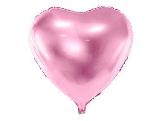 Balon foliowy Serce - 45 cm - jasny róż