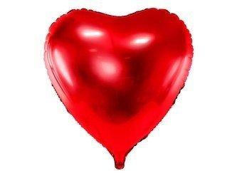 Balon foliowy Serce - 72x73 cm - czerwony