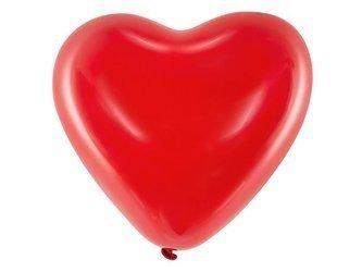 """Balony 16"""" Serca - Pastel czerwony - 6 szt."""