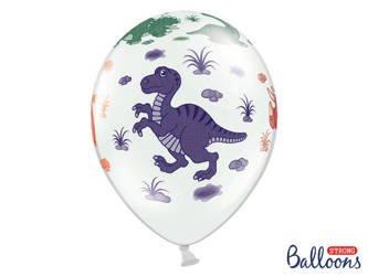 Balony 30 cm - Dinozaury - Pastel Pure White - 50 szt.