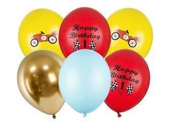 Balony 30 cm - Happy Birthday - mix - 6 szt.