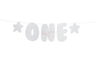 Baner 1st Birthday - pierwsze urodziny - roczek - 11.5 x 50 cm