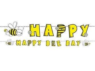 Baner Pszczółka - Happy Bee Day - 16,1 x 153cm