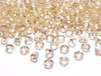 Diamentowe konfetti - 12 mm - złote - 100 szt.