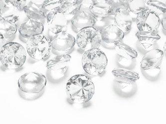 Diamentowe konfetti - 20mm - bezbarwne - 10 szt.