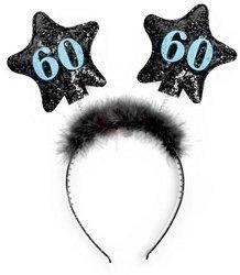 Opaska z gwiazdkami 60 urodziny - czarne
