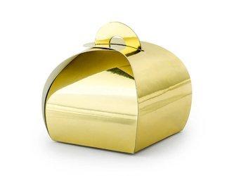 Pudełeczka - 6 x 6 x 5,5 cm - złote - 10 szt.