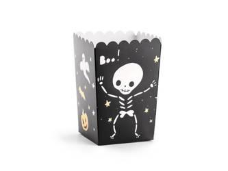 "Pudełka na popcorn ""BOO!"" - 7 x 7 x 12.5 cm - 6 szt."