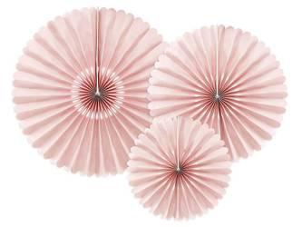 Rozety dekoracyjne - brudny róż - 26-43 cm - 3 szt.