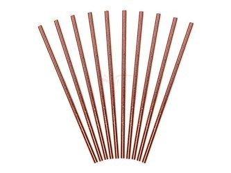 Słomki papierowe - różowe złoto - 19.5 cm - 250 szt.