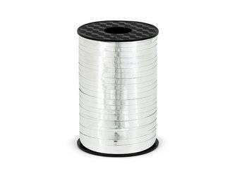Wstążka plastikowa - srebrna - 5mm/225m