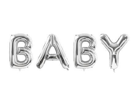 Balon foliowy Baby - 262 x 86 cm - srebrny