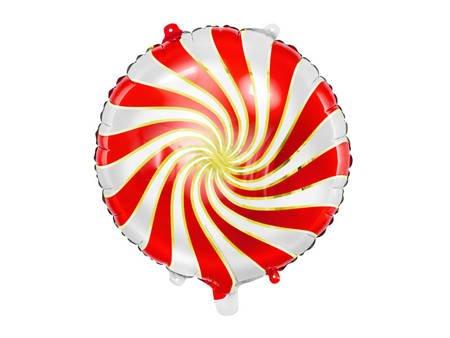 Balon foliowy Cukierek - 35 cm - czerwony