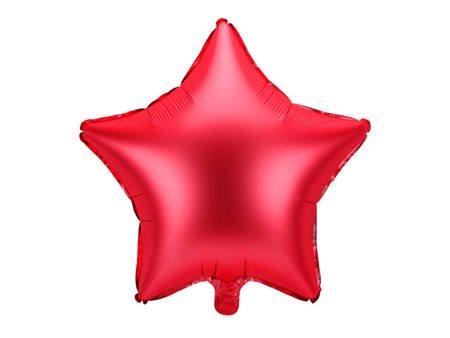 Balon foliowy Gwiazdka - 48 cm - czerwony