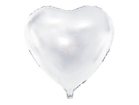 Balon foliowy Serce - 45 cm - biały