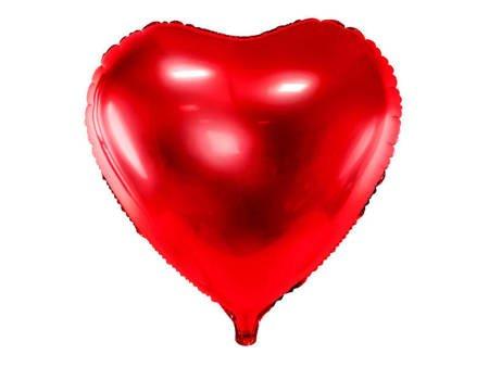 Balon foliowy Serce - 45 cm - czerwony