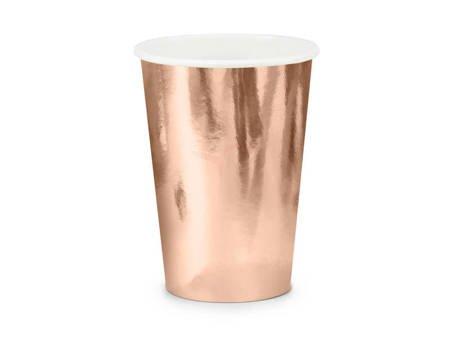Kubeczki - różowe złoto - 220ml - 6 szt.