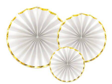 Rozety dekoracyjne - białe - 3 szt.